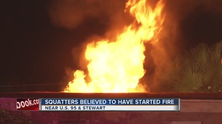 Backyard of vacant house catches fire