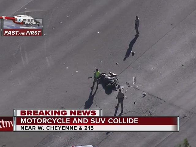 One hurt in northwest Las Vegas crash