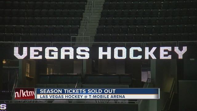 Las Vegas NHL Team Sells Out Season Tickets