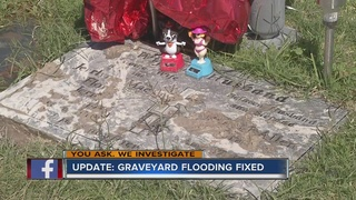 YOU ASK: Graves no longer covered in water