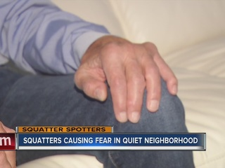 SQUATTER SPOTTERS: Decorations apparently stolen