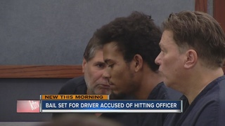 Man who hit police officer appears in court