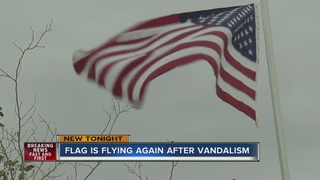 Old Glory flies high again after being stolen