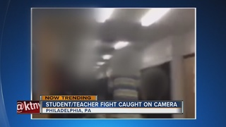 WATCH: Teacher and student get in fistfight