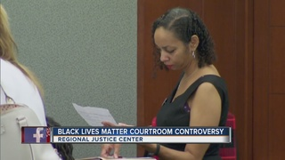 Attorney wears Black Lives Matter pin to court