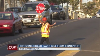 Girl saved from kidnapping by crossing guard