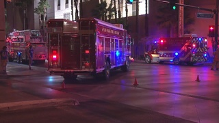 Downtown hotel evacuated because of fire