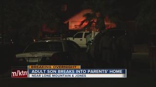 Man breaks into parents' home