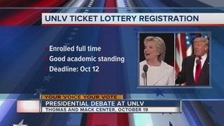UNLV ticket lottery for presidential debate