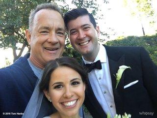 Tom Hanks crashes wedding photos in Central Park