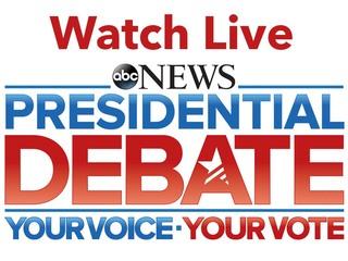 Watch Live Coverage: Presidential Debate