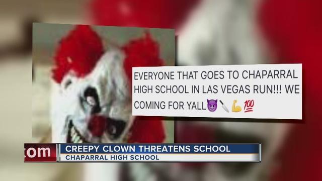 Creepy clown threatens Chaparral High School students on Facebook ...