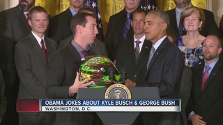 Obama honors Las Vegas native Kyle Busch