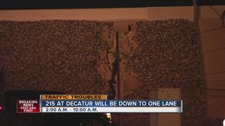 Repairs prompt lane closures on 215 beltway