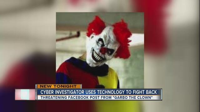Man working to track down creepy clown