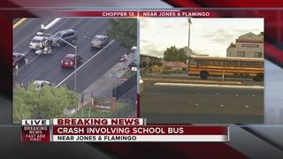 Vehicle struck by school bus by Flamingo, Jones