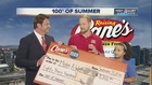 Make-A-Wish gets check for 100 Degrees of Summer