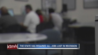 Nevada has recouped all jobs lost in recession