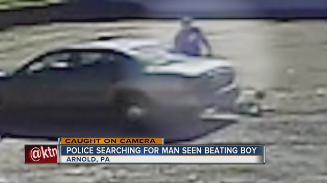 Man caught on camera beating boy in PA