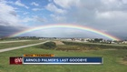 Huge rainbow after Arnold Palmer's ashes spread
