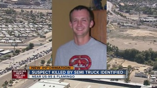 Shooting suspect hit by semi on US 95 identified