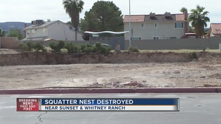 SQUATTERS: Old business complex demolished