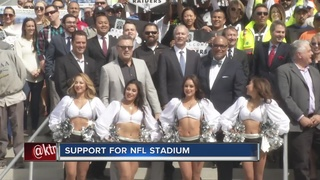 Leaders gather in support of NFL stadium