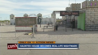 Woman says she was groped at haunted house