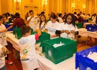 Sands builds hygiene kits for families in need
