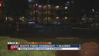 Man grazed by bullet at apartment complex