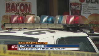 Local Carl's Jr. robbed at gunpoint on Wednesday