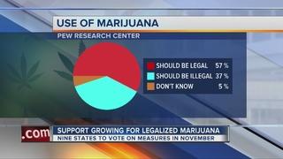 Survey finds more support for legalizing pot