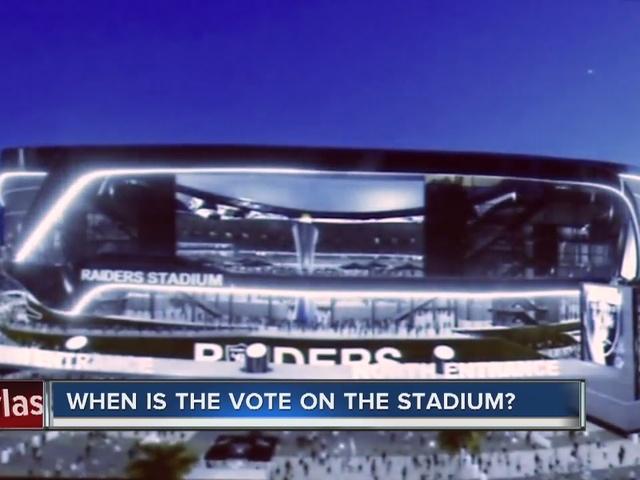 RALSTON: When is the vote on the stadium?