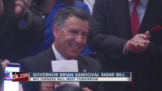 Gov. Sandoval signs stadium bill