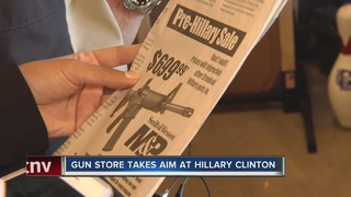 Gun store takes aim at Hillary Clinton with ad
