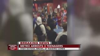 UPDATE: 3 arrested in massive high school brawl