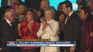 Hillary Clinton surprises debate watchers in NLV