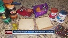 Mom packs lunch for son's classmate