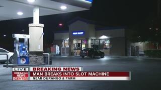 Man breaks into gas station video poker machine