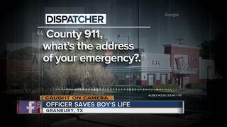 VIDEO: Texas police officer saves young boy