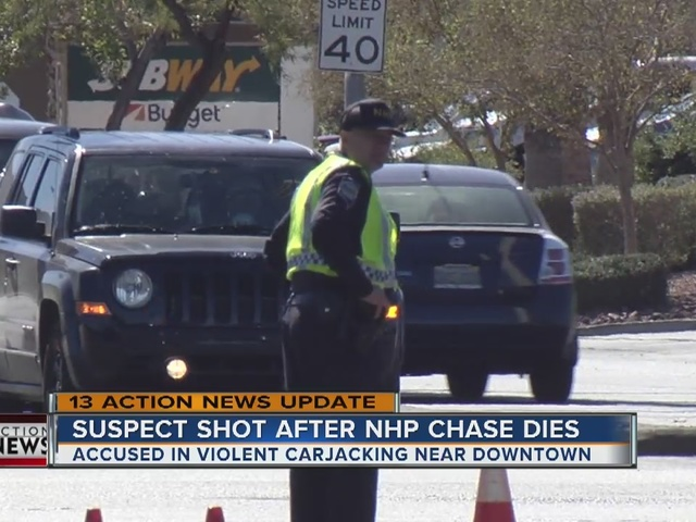 UPDATE: Suspect shot after NHP chase has died