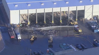 Republic Services reports fire in NLV