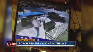 CAUGHT ON CAMERA: Woman stealing UPS package
