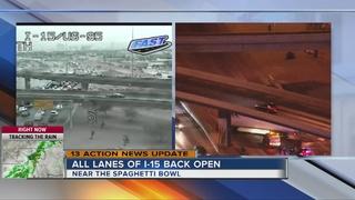 All lanes of I-15 open after big rig crash