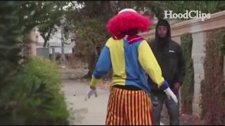 VIDEO: 'Creepy clown' pistol-whipped in Calif.