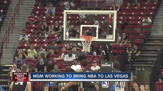 MGM Resorts CEO working on bringing NBA to Vegas