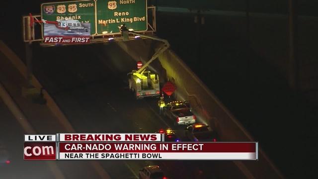 'Car-nado' closures begin in the Spaghetti Bowl