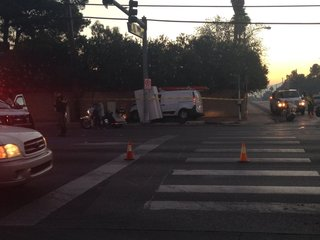 Vehicle takes out traffic lights in 3-car crash
