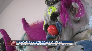 Local sales up 300 percent for clown costumes
