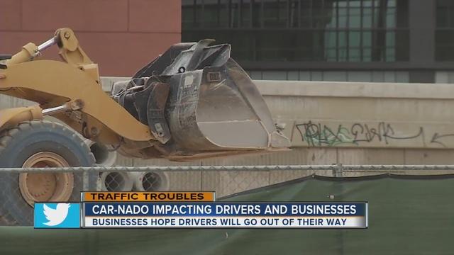 Businesses impacted by 'Car-nado' road closures